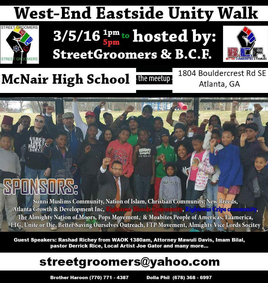 Street Groomers Dekalb March 5 Unity March